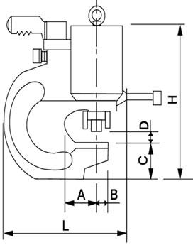 Kich thước đầu máy đột mini A040-1020