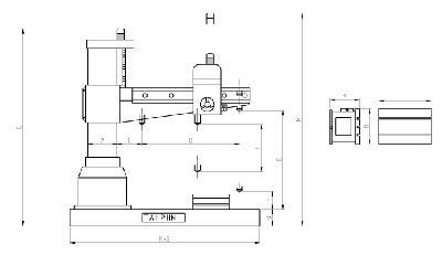 Máy khoan cần 3Hp 42mm TPR-1100 Tailift Đài Loan
