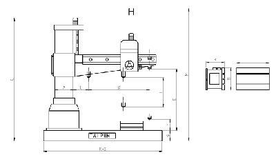 Máy khoan cần 5HP 50mm 12 tốc độ TC-1600H Tailift Đài Loan